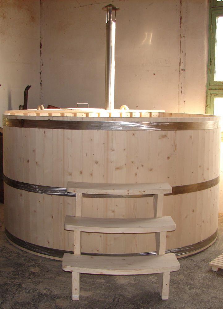 8-10 személyes fürdődézsa (fa tüzelésű) - fürdőszoba dézsa fa ...